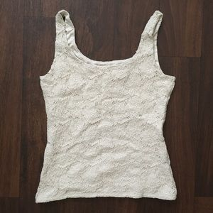 WHBM crop lace top, size small/xs